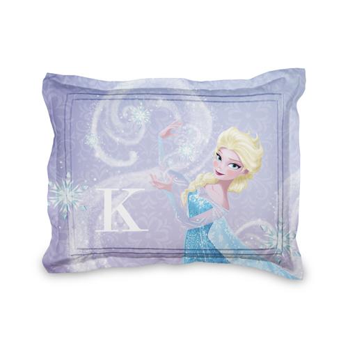 Disney Frozen Elsa Sham, Sham, Sham w/ Black Lantern Back, Standard, Purple