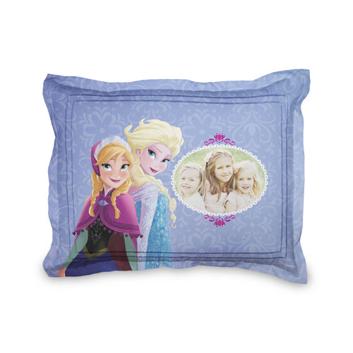 Disney Frozen Anna And Elsa Sham, Sham, Sham w/ Black Lantern Back, Standard, Purple
