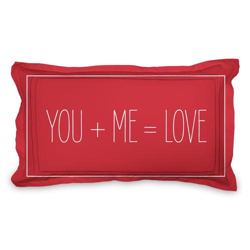 Love Equation Sham, Sham, Sham w/ White Back, King, Red