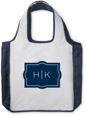 ticked monogram reusable shopping bag