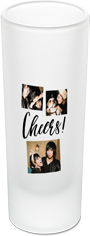 cheers collage shot glass