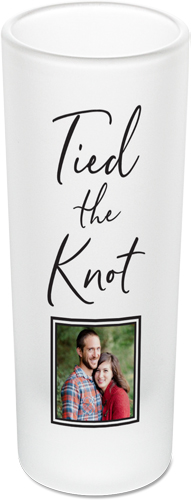 Tied The Knot Shot Glass, Black