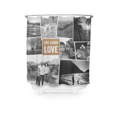 Live Laugh Love Collage Custom Shower Curtains