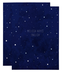 moon and stars night sky folders