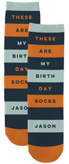 birthday socks custom socks