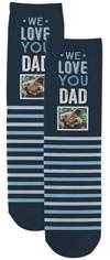 we love you dad custom socks