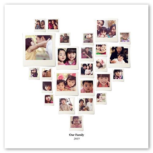 heart collage shutterfly