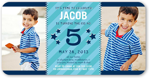 Birthday Number Birthday Invitation by pottsdesign