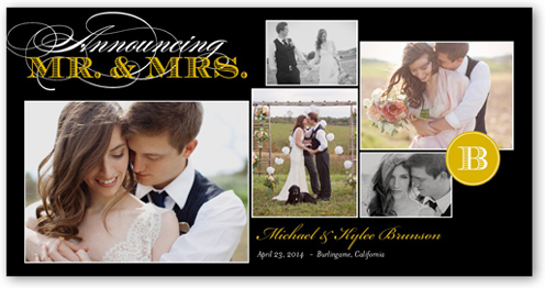 Wedded Bliss Wedding Announcement, Square