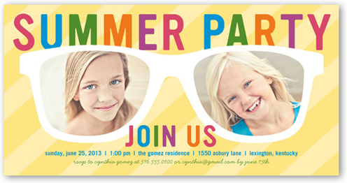 Shades Of Fun Summer Invitation, Square Corners