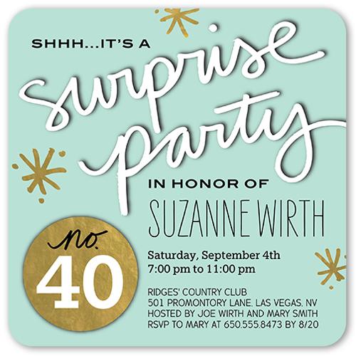 Splendid Surprise Birthday Invitation