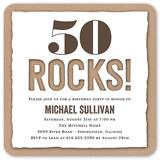 rocking cutout birthday invitation 5x5 flat