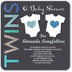 Twin Baby Shower Invitations Shutterfly