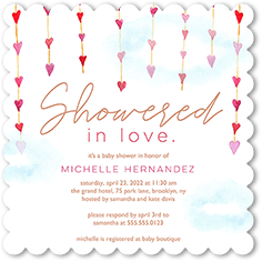 showered in love baby shower invitation
