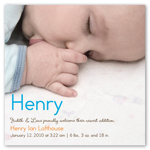 Baby Boy Name Birth Announcement