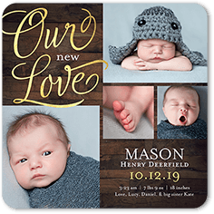 newly loved birth announcement