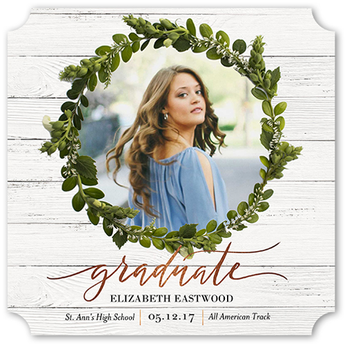 Grad Wreath Graduation Announcement