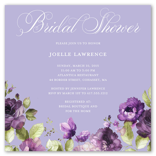 Garden Glory Bridal Shower Invitation