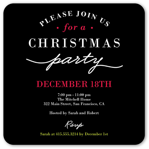 Christmas Party Holiday Invitation