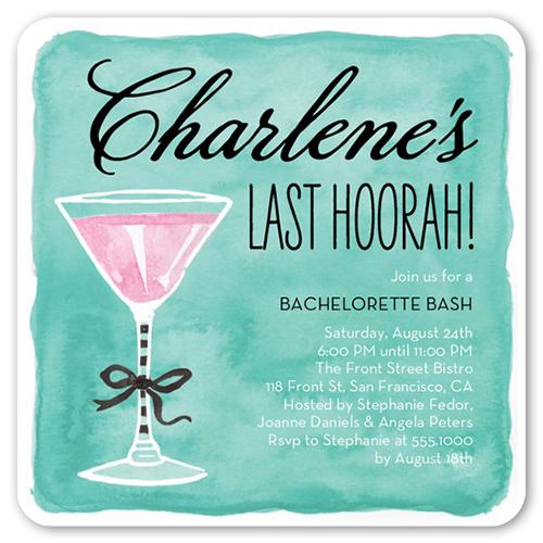 Last Hoorah Bachelorette Party Invitation