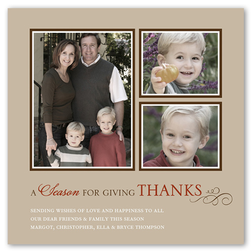 Thanksgiving Season Fall Greeting