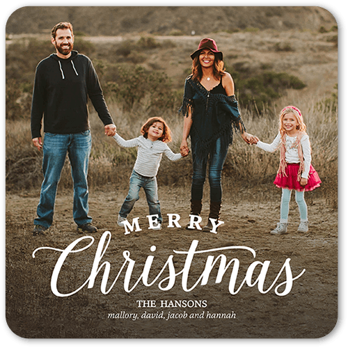 Shutterfly Christmas Cards.Simple Family Greeting 5x5 Flat Christmas Cards Shutterfly