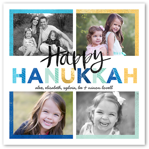Brilliant Hues Hanukkah Card