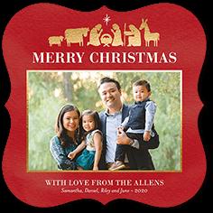 peaceful nativity religious christmas card