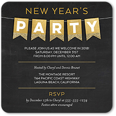 New years invitations new years eve party invites shutterfly new years invitation from 127 reflective banner stopboris Images
