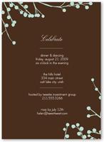 mint blossoms party invitation 5x7 flat