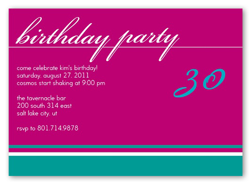 Birthday Fuchsia Party Invitation