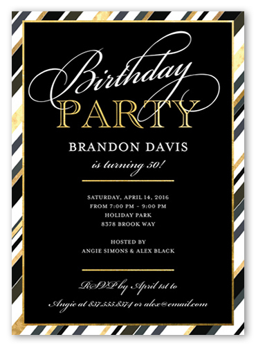 Fantastic Party Birthday Invitation, Square Corners