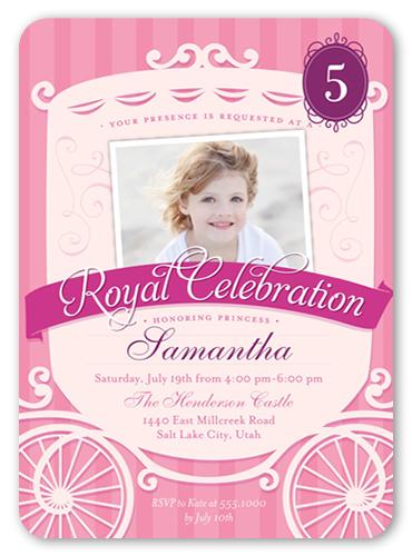 Royal Celebration Birthday Invitation, Square