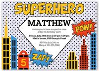 superhero birthday invitation 5x7 flat