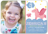 pretty unicorn birthday invitation 5x7 flat