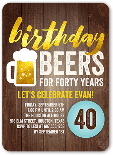 40th birthday invitations | shutterfly, Birthday invitations