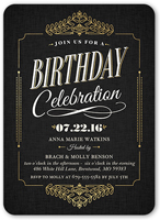 5x7 Flat Surprise Birthday Invitations Adult Birthday
