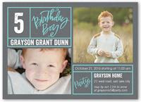 bright borders boy birthday invitation 5x7 flat