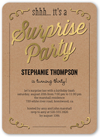 Sweet Surprise Birthday Invitation 5x7 Flat