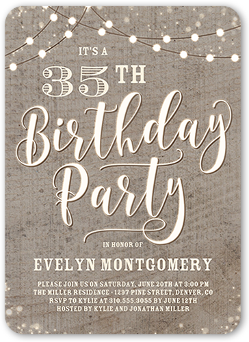 35th birthday invitations shutterfly rustic party birthday invitation filmwisefo