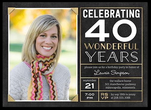 Framed Celebration Birthday Invitation
