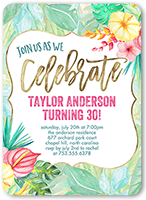 floral celebration birthday invitation 5x7 flat