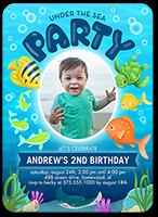 oceanic party birthday invitation 5x7 flat