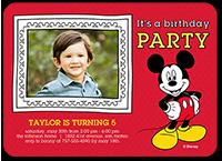 disney mickey mouse frame birthday invitation 5x7 flat