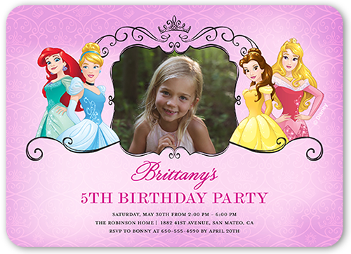 Disney Princess Celebration Birthday Invitation