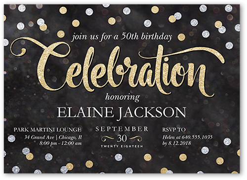 Chalked Confetti Birthday Invitation