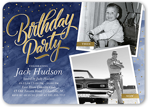 Watercolor Celebration Birthday Invitation