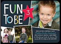 colorblock fun boy birthday invitation 5x7 flat