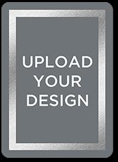 upload your own foil design portrait birthday invitation 5x7 flat