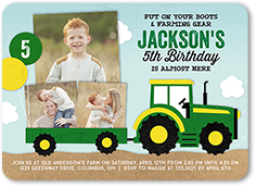 Fantastic Farming Birthday Invitation 5x7 Flat